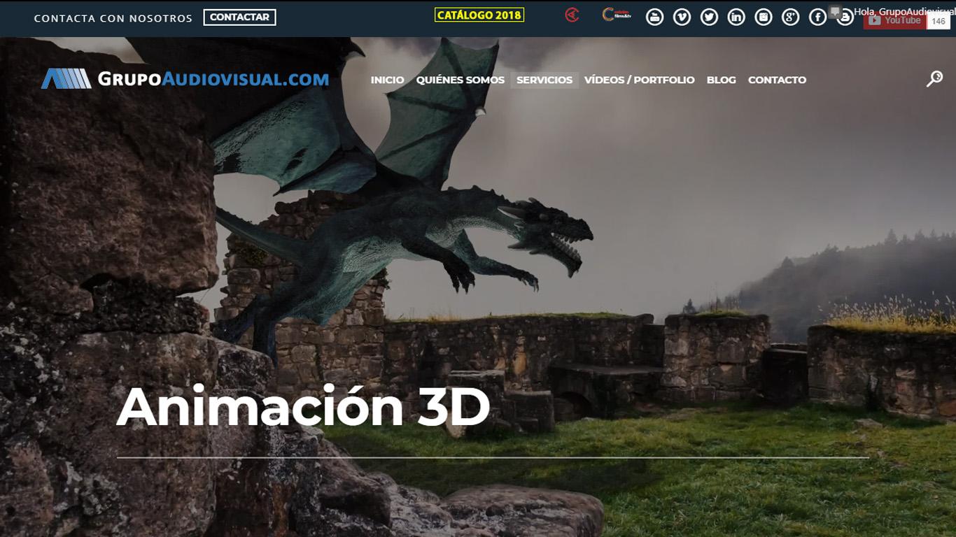 vídeo animado animación 3d grupoaudiovisual