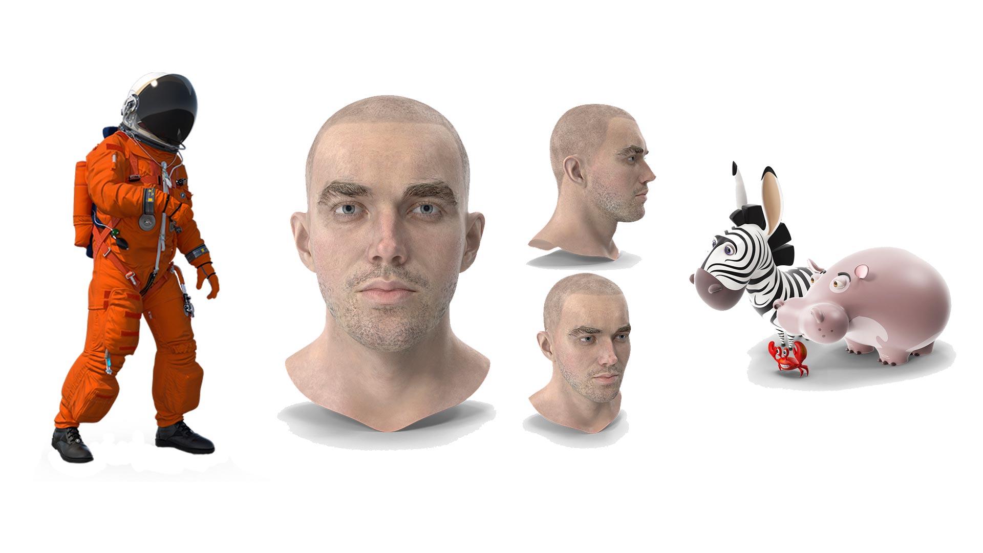 Personajes en 3D