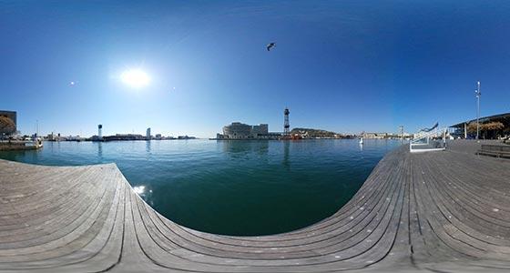 Barcelona-Port-Vell-Maremagnum comprar fotos 360