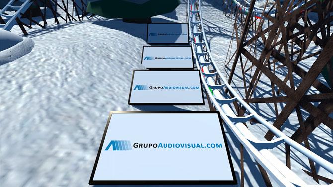 Experiencias de realidad virtual personalizable montaña rusa navidad roller coaster vr 01