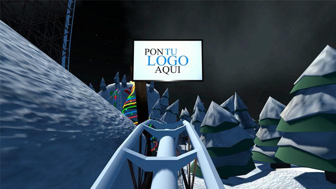 Experiencias de realidad virtual personalizable montaña rusa navidad roller coaster vr 03