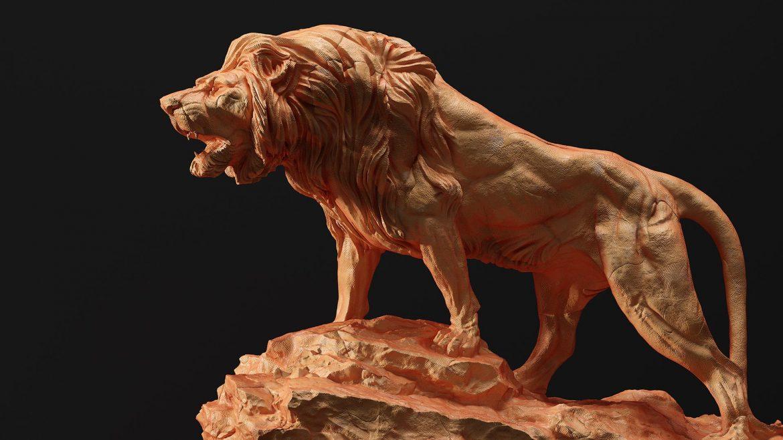 escultura-leon-3d-grupoaudiovisual